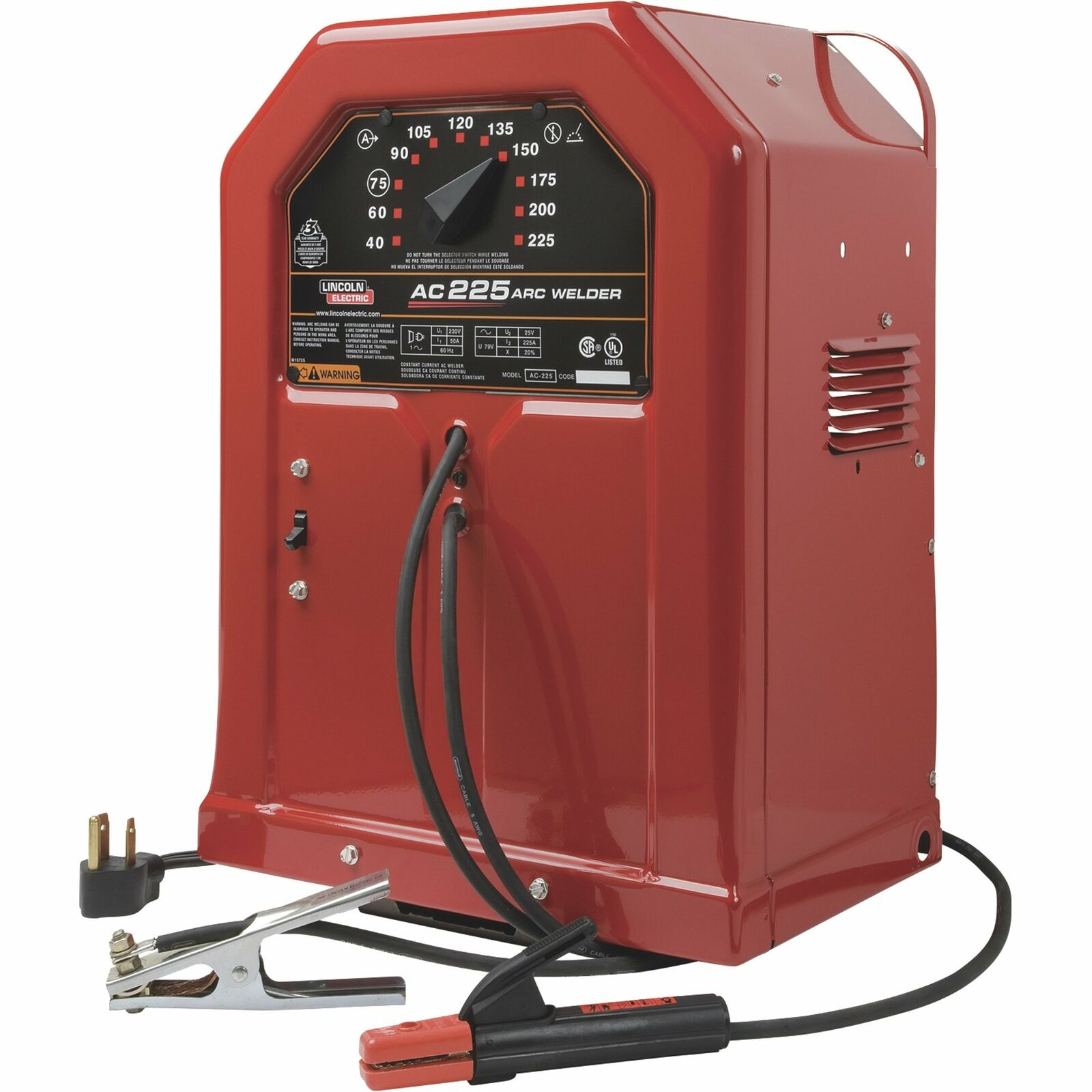 northerntool Lincoln Electric AC-225 AC Arc Welder- Transformer 230V 40-225A Output