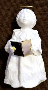 "Beautiful 6"" Porcelain Bisque Angel Dept 56"