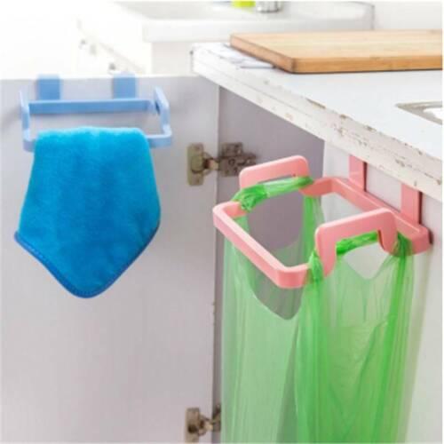 Home Trash Rubbish Hanging Bag Holder Door Hangers Cupboard Garbage Bag Rack Z