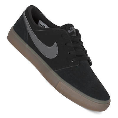 Nike SB Solarsoft Portmore II BlackDark GreyWhite | Mens Skate Shoes