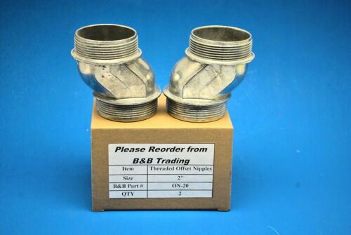 Box of 2 Pieces 2/'/' Die Cast Offset Nipples  Threaded