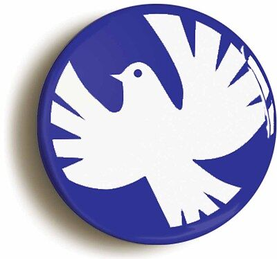 PEACE DOVE BADGE BUTTON PIN SIXTIES RETRO (1inch/25mm diameter) 1960s HIPPIE