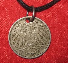 VINTAGE AUTHENTIC GERMAN  GERMANY ANTIQUE EAGLE COIN PENDANT NECKLACE
