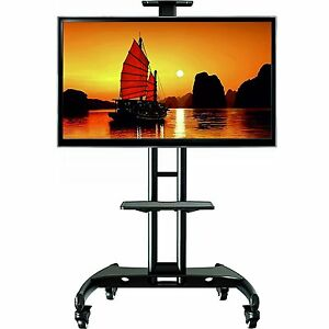 Universal Mobile TV Cart with Mount for (fits 32''- 65'') LED LCD Curved Plasma