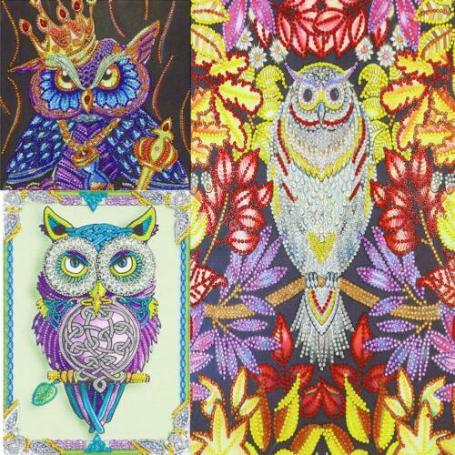 5D DIY Special Shaped Diamond Painting Owl Cross Stitch Mosaic Craft Kits S1