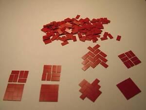 """Poupées Maison Flooring.dolls House Miniatures, Carrière Gamme.1 / 4 """"x 1/2"""" Dalles De Sol-rry Range.1/4"""" X 1/2"""" Floor Tiles Fr-fr Afficher Le Titre D'origine"""