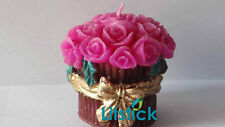 Flower Bouquet Candle with golden Ribbon, Handmade candle, Decorative  Gifts