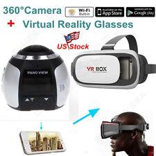 Sliver 4K AT360H 360°Panoramic 2448*2448 Camara Wifi Sport Cam+VR Glasses Box