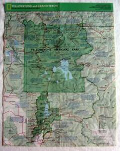 Details about YELLOWSTONE and GRAND TETON ~ 1989 National Geographic Map