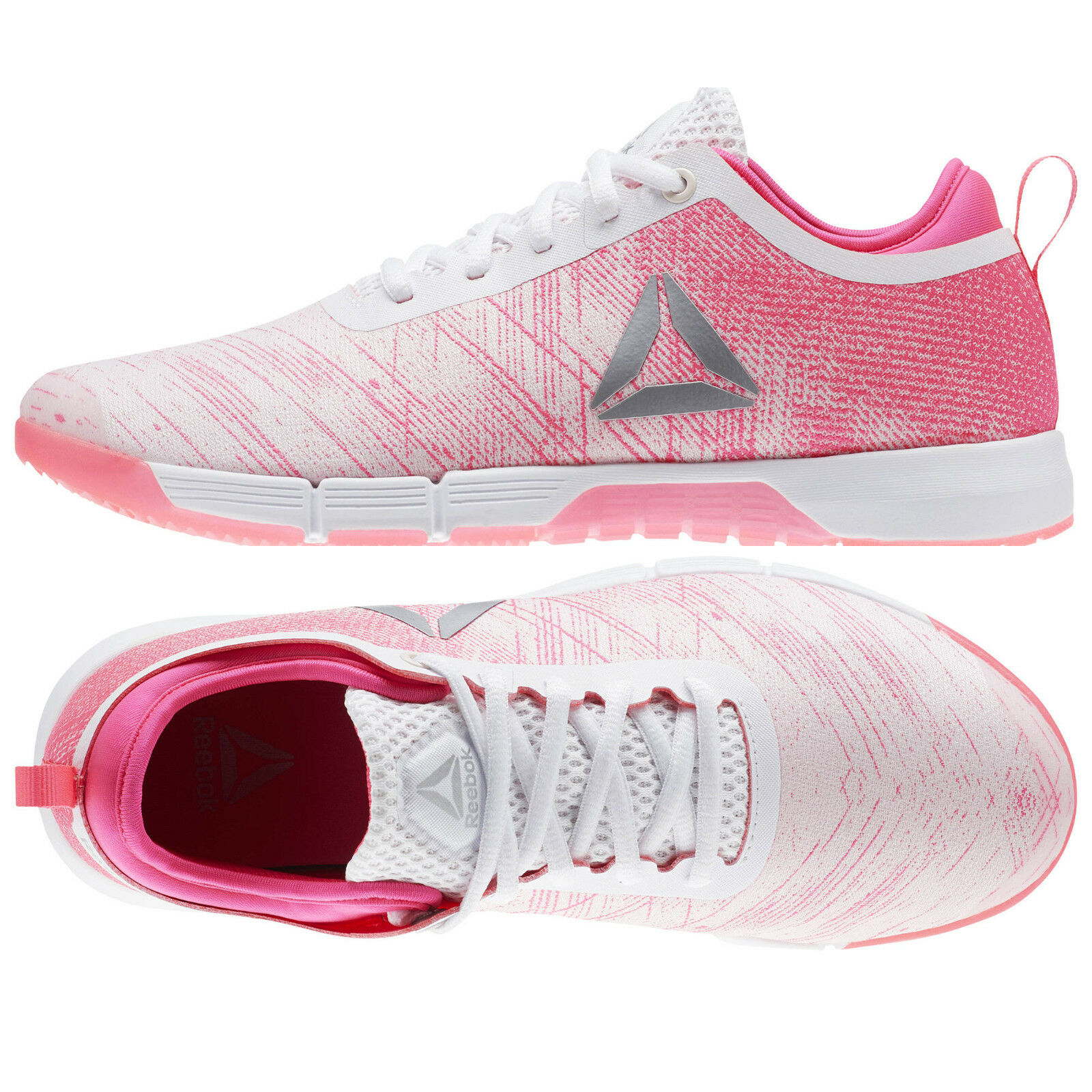 Damenschuhe Reebok Schuhes Weiß SPEED HER TRAINING Schuhe CN2246 Pink Weiß Schuhes Sneakers NEW e8b8e8