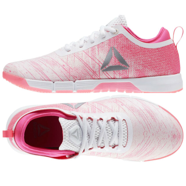 Womens Reebok Shoes SPEED HER TRAINING SHOES CN2246 Pink White Sneakers NEW 63520c8c039