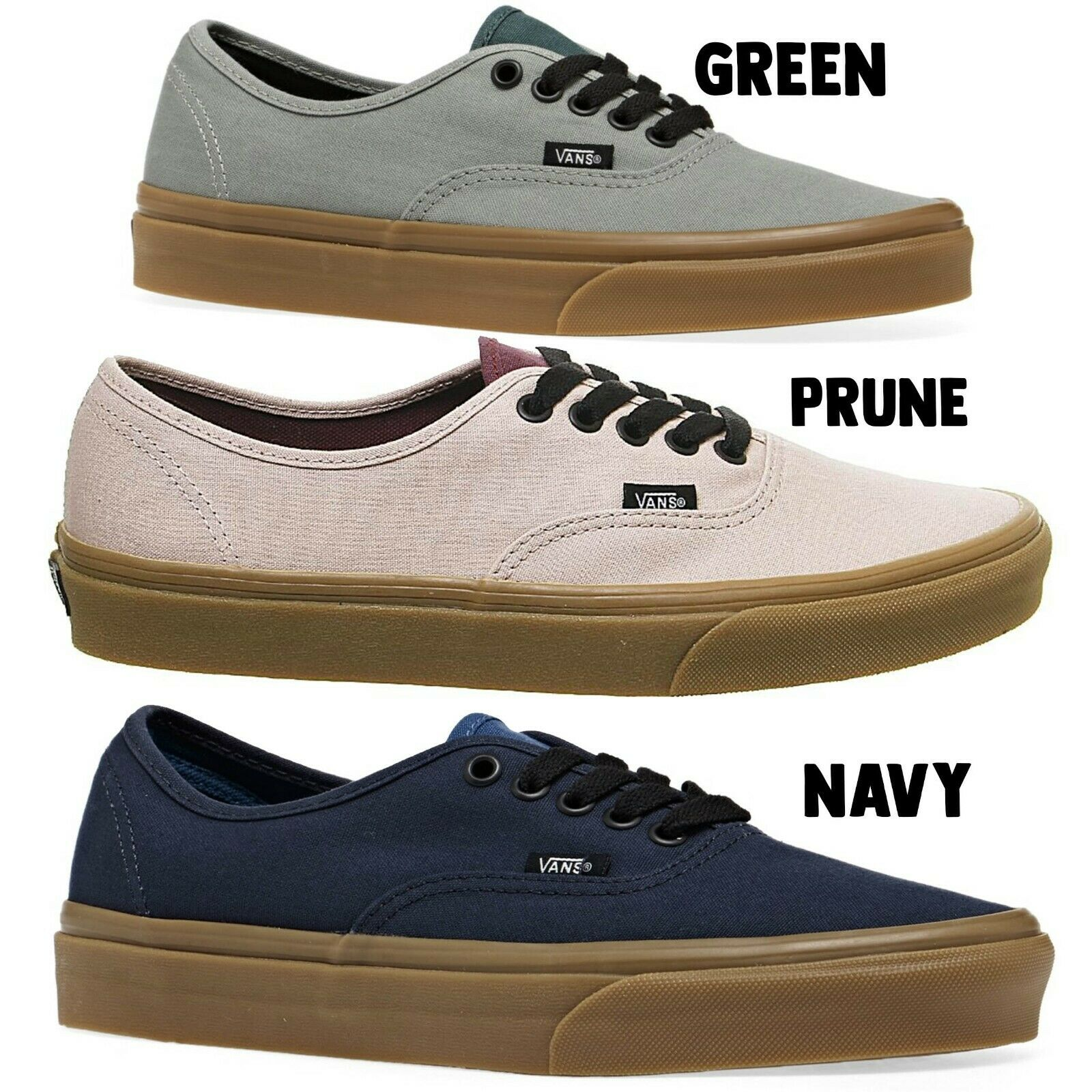 Vans - Authentic - Gum Sole - Green