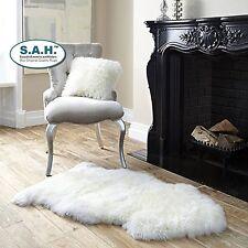 Sheepskin Furry Large Gorgeousl Real Australian Auskin Rug Cream White
