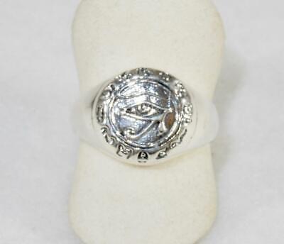 Eye of Horus Udjat Ring Egyptian Sterling Silver Ra Symbol Kemetic sizes 4-15