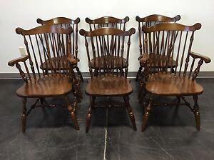 temple stuart rockingham windsor back dining chairs - set of 6 | ebay