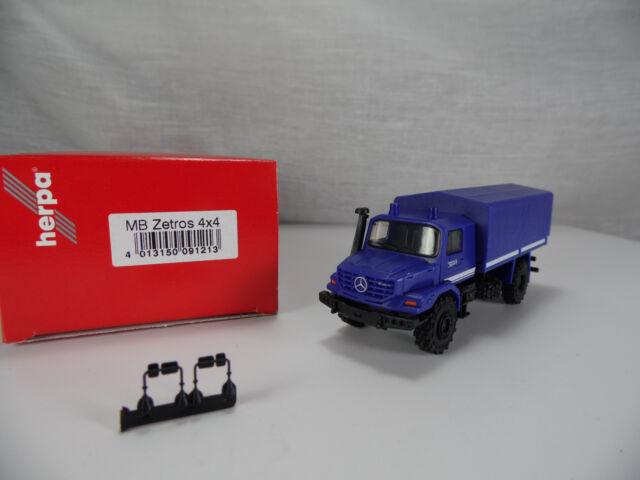 ht520, Herpa 091213 Mercedes-Benz Zetros 4x4 Planen LKW THW 1:87 NEU/NEW