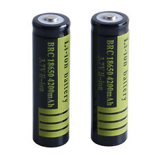 2PCS 3.7 V 18650 4200mAh Li-ion Rechargeable Battery for Flashlight Torch USA