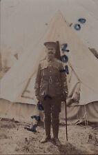 Soldier Regimental Sergeant Major ? Audsley Royal West Kent Regiment tented camp