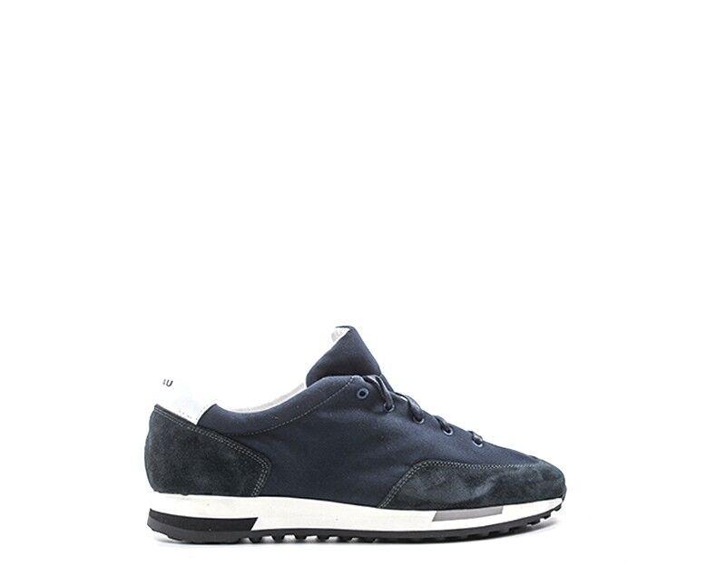 shoes FRAU men SNEAKERS TRENDY  blue Scamosciato,Tessuto 23E1-BL