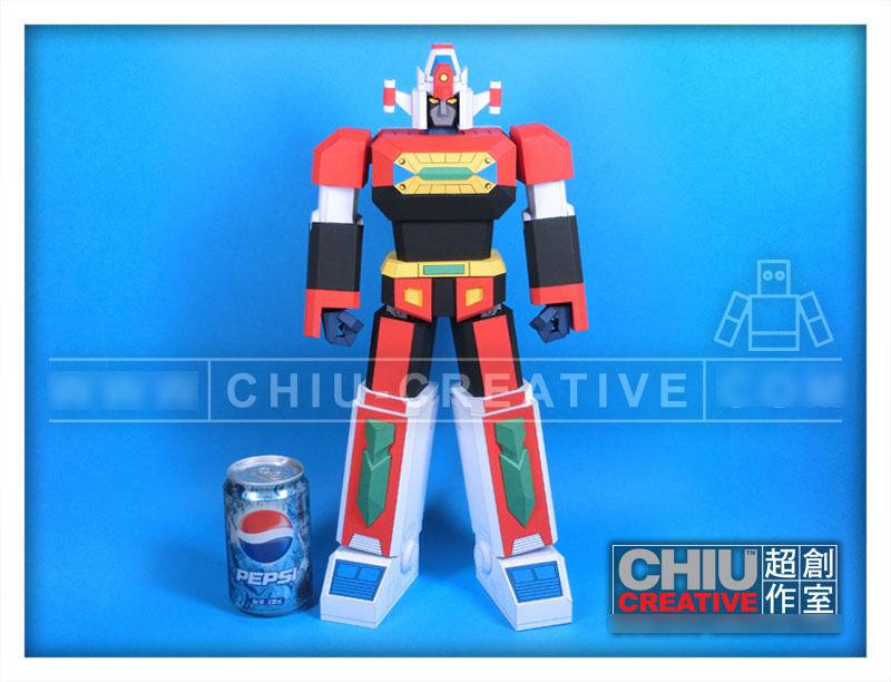 Jumbo Daimos - DIY 3D Paper Model Robot non-POPY chogokin