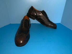 New-Men-039-s-Allen-Edmonds-Whitney-Brown-Calf-Leather-Brogue-Wingtips-Size-11-5-D