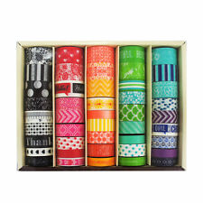 Recollections Planner Girl Washi Tape Box Set - Colorful Red Pink Yellow Green