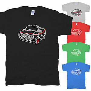GMC-Vandura-A-Team-Bus-B-A-US-Action-Film-Baracus-Fun-Mr-T-Dodge-T-Shirt-S-XXL