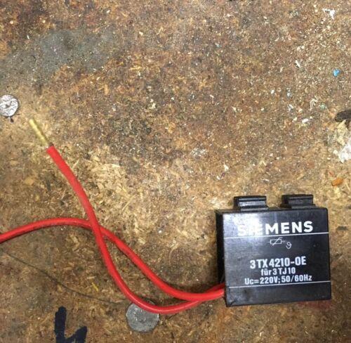Siemens 3TX4210-0E Entstördiode für 3TJ10 Uc= 220v 50Hz 60Hz Neu