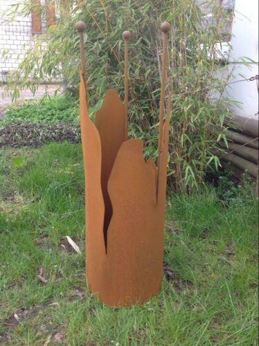 Edelrost Garten Feuerschale Rost Pflanzschale Rost  60cm 1mm mit Ständer H100cm