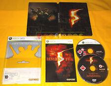 RESIDENT EVIL 5 Edizione Steel Box XBOX 360 Versione Italiana ○ COMPLETO AI