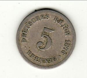 Allemagne 5 Pfennig 1876 J A Voir !