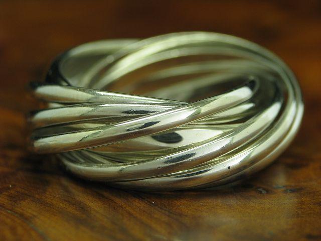 925 STERLING silver SIEBENFACHRING   MEHRFACHRING   ECHTsilver   10,8g   RG 59,5
