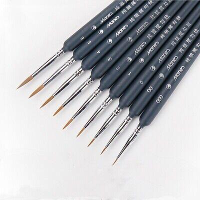 set gancio linea penna set pennello disegno dipinti capelli donnola 9 pezzi