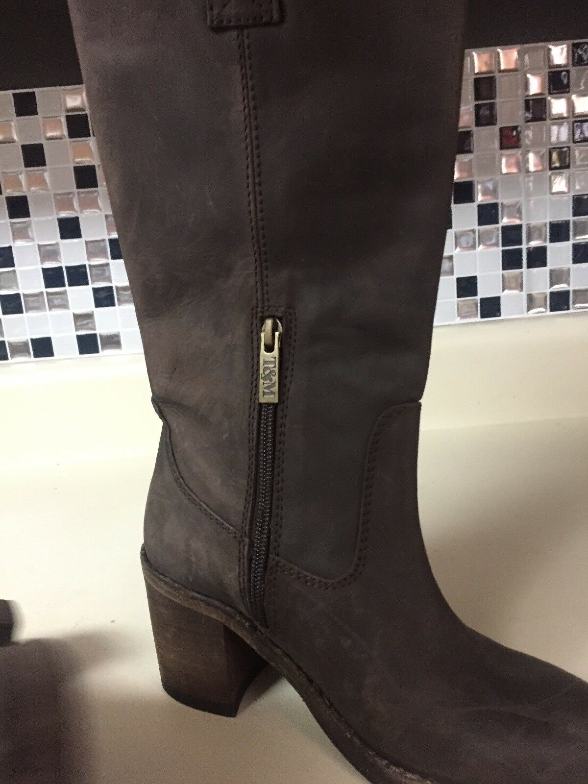 Ted Ted Ted and Muffy Tall Stiefel braun Größe 35 US 5 Nubuck Leather 730b68