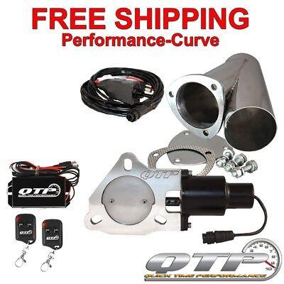 "QTP Quick Time Performance 3/"" Electric Exhaust Cutout Wireless Kit QTEC30CPSK"