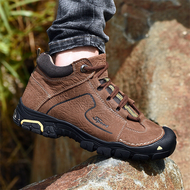 Men Winter Ankle Boots Fur Lined Casual Waterproof Climbing Hiking shoes Outdoor