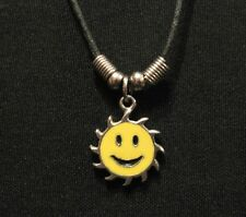 VERY SMALL SMILING SUN VINTAGE NECKLACE GOTH OCCULT PAGAN UK IMPORT