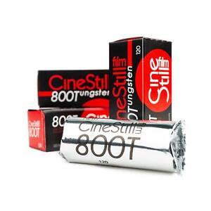 3x Cinestillfilm 800 Tungsten 120 Rollfilm Mittelformat Farbfilm Color