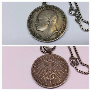 Cadena-de-plata-con-munzanhanger-835-1910-3-Mark-A-Hessen-Ernst-grossherzog