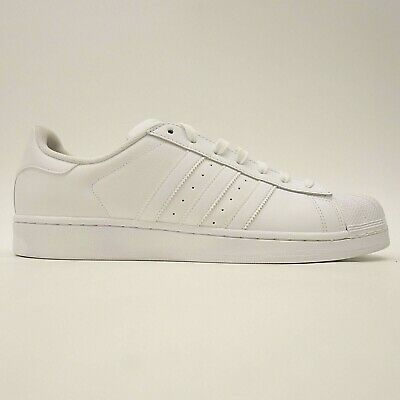 New Adidas Superstar Foundation Mens US 12 EU 46.66 White Sneakers Shoes | eBay