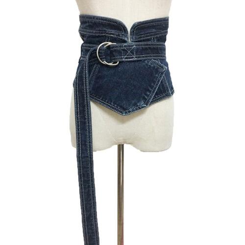 Femme Boucle denim Large Taille Corset Band Casual Slimming Bandage Ceinture Sangle