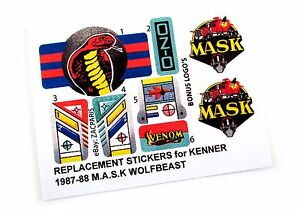 BONUS Stickers for KENNER M.A.S.K VOLCANO Personalized