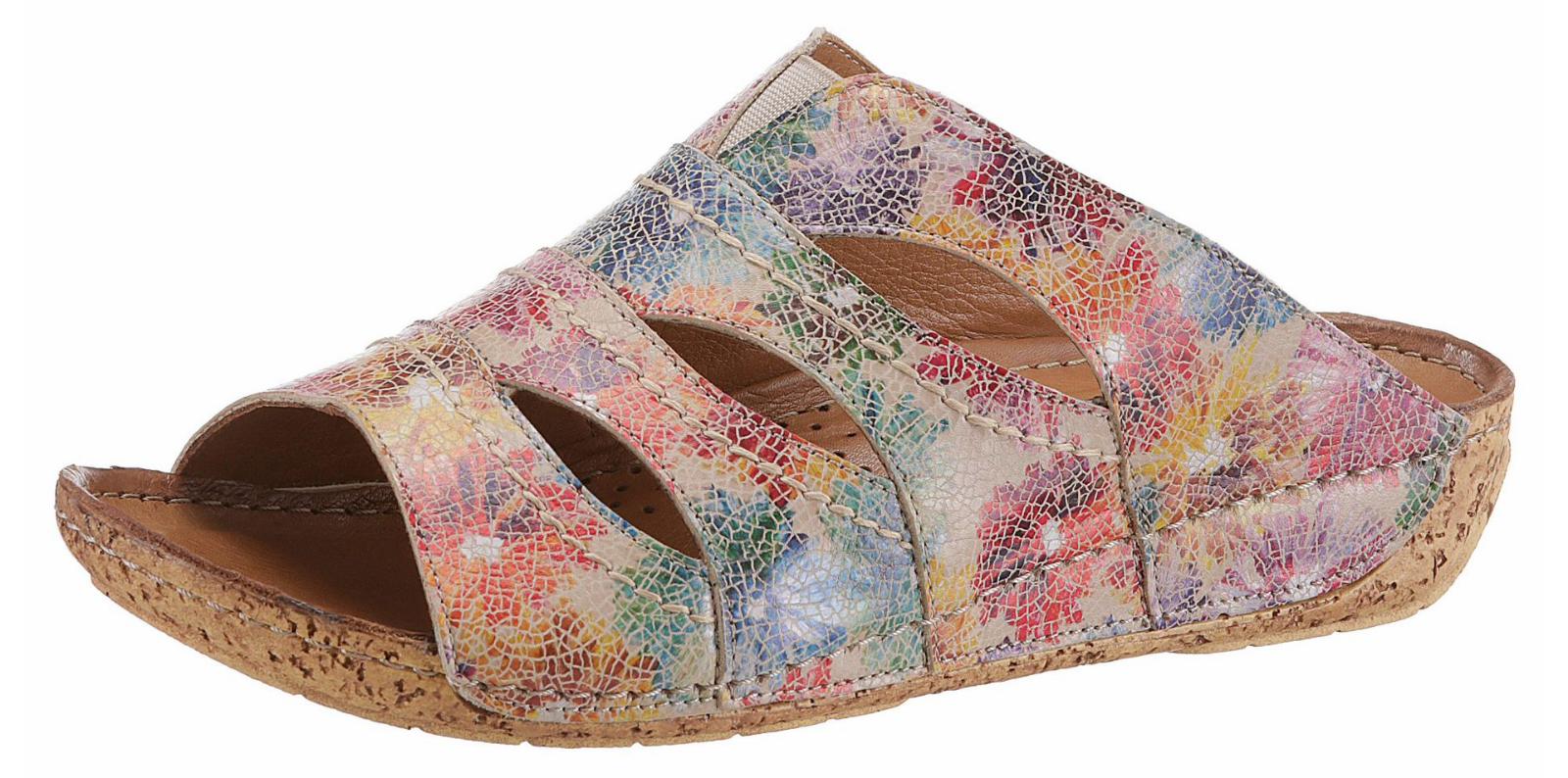 Gemini Damen Pantolette multi Gr.41 Leder Schuhe  Clogs  NEU