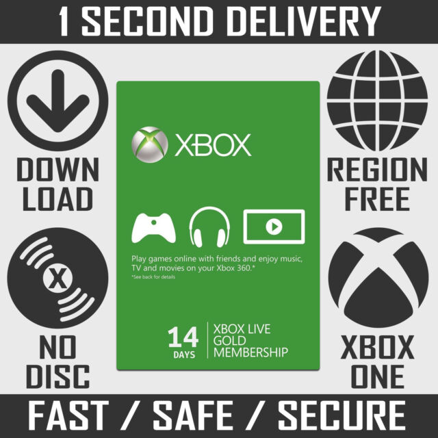XBOX Live 14 jours Gold Trial Membership   14 Jours 2 Semaines XBOX one XBOX 360 code