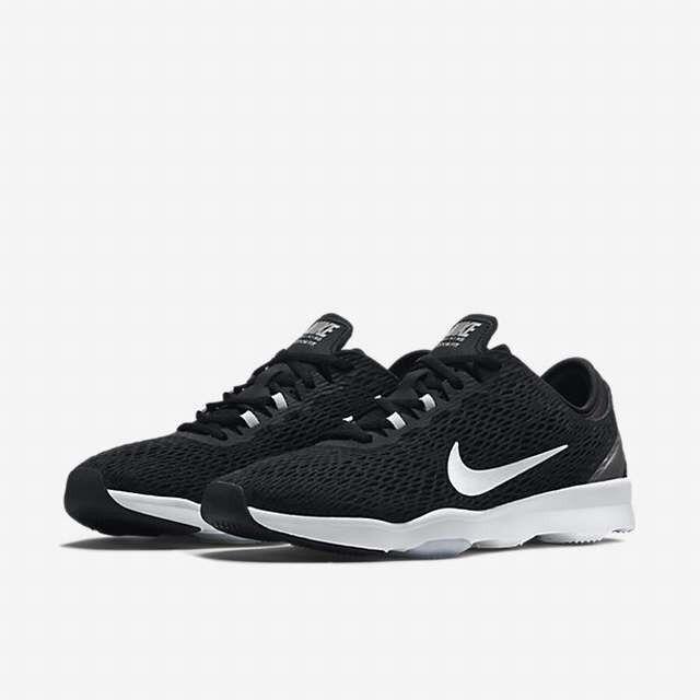 Donna  Nike Zoom Fit nero bianca Volt running running running training 704658-002 2eb9db