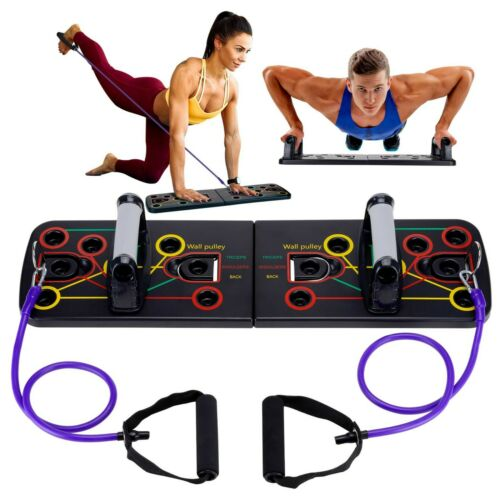 Adjustable Handles and Resistance Bands 12-in-1 Push Up Board System