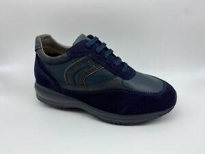 Dettagli su Scarpe Sneakers Geox Happy camoscio blu tipo Hogan Interactive €130 - 20%