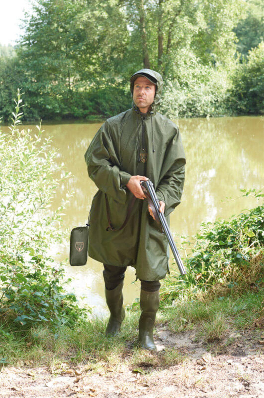 Hubertus lluvia Poncho verde oliva poncho jagdponcho wanderponcho unisex One Talla