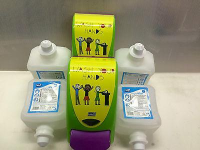 2 x Seifenspender Deb Stoko ®  4x Schaumseife für Kindergärten Schülerhord