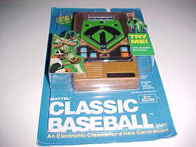 Mattel klassisk basebollhandhållen Electronic spel 43386 brun New